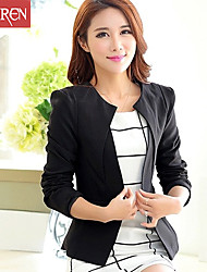 Muairen®Women'S Fashion Cultivating Long-Sleeved Collarless Suit Jacket Short Paragraph