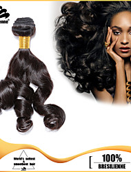 "3pcs/lot 12""-30"" Brazilian Virgin Hair Natural Black Fummi Human Hair Extensions Hair Weaves Tangle Free"
