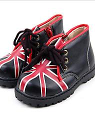Zapatos de bebé - Botas - Exterior - Semicuero - Negro / Rojo