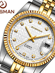 EASman Brand Automatic Watch Brands Sapphire Gold Plated Steel New Luxury Watches Clock Men Gold Mechanical WristWatch