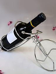 mesa triciclo de metal em forma de garrafa de vinho titular rack de cozinha de armazenamento bar ficar (cor aleatória)