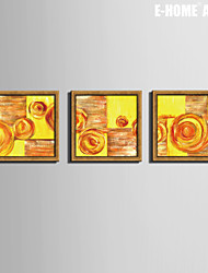 E-HOME®  Framed Canvas Art,Abstract Framed Canvas Print Set of  3