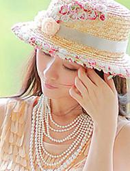 Women Linen/Mesh/Straw Fedora Hat , Cute/Casual Summer