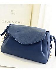 Women 's PU Sling Bag Shoulder Bag - Blue/Red/Black