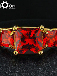 Hot Ruby Party Ring Vintage 18k Gold Filled Onyx Red Ring Design Cocktail Ring