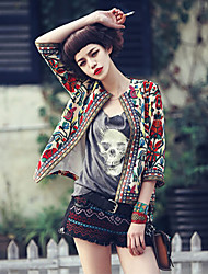 Women's Vintage Print ¾ Sleeve Jacket
