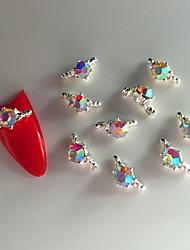 Abstract/Bruiloft - Vinger - Nagelsieraden/Schitteren - Metaal - 10 - stuks 7X4X0.5 - ( cm )