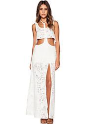 Women's Sunchaser T-bar Crop Top Lace Maxi Skirt Set