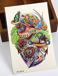 1 - Séries de fleur / Séries de totem / Autres - Multicolore - Motif - 12cm(W)*19cm(L) - en Papier - Tatouages Autocollants - Brand New -