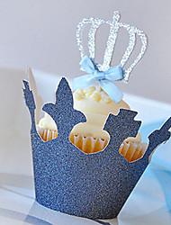 Accessori per feste Accessori decorativi per torte Compleanno Favola Other Non personalizzato Legno Iuta/Blu 10Pezzo/Set