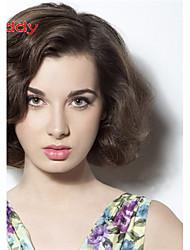 """10 """"-26"""" 100% del pelo humano pelucas del cordón ondulado pelo virginal indio peluca de encaje para las mujeres"""
