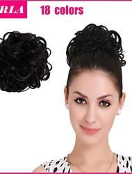 2015 New Fashion Synthetic Elastic Bride Hair Bun Hair Chignon Roller Hairpieces Synthetic Bun Toupee Clip