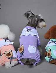 Cat / Dog Coat / Pants Green / Pink / Purple Winter Bowknot / Cartoon Wedding / Cosplay