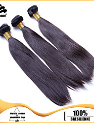 "3pcs/lot 12""-30"" Brazilian Virgin Hair Natural Black Silky Straight Human Hair Extensions Hair Weaves Tangle Free"