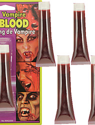 5pcs Halloween Cold One Vampire Fake Blood Lip Blood Syrup Face Paint
