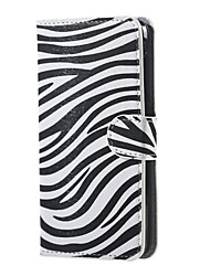 For Acer Liquid Z520 Cover Zebra Skin Leather Wallet Flip Stand Case For Acer Liquid Z520 Mobile Phone Cases