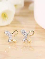 Tous jewelry silver earings 925 women korean tv drama fine jewelry rose gold butterfly 3a cz stud earrings bijoux femme