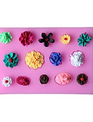 Flower Flowers Fondant Cake Cake Chocolate Silicone Molds,Decoration Tools Bakeware