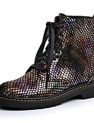 Zapatos de mujer - Tacón Bajo - Botas Anfibias / Punta Redonda - Botas - Vestido / Casual - Cuero - Multicolor