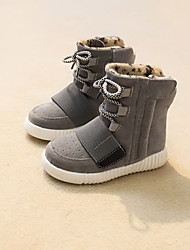 Boys' Shoes Athletic / Casual Faux Suede Boots Black / Brown / Gray