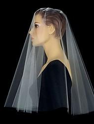 Wedding Veil One-tier Blusher Veils / Elbow Veils / Fingertip Veils Cut Edge