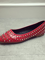Women's Classic/Elegant Casual Shoes Flat Heel Closed Toe Flats Shoes Black / Red / Gray