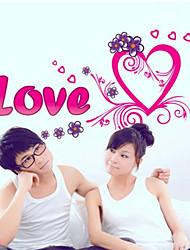 Romanze Liebe Stil Ebene Wandaufkleber Wanddekor, PVC herausnehmbare