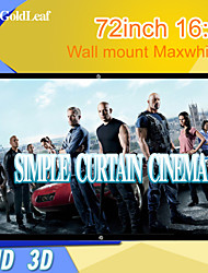 RedGoldLeaf® 72Inch 16:9 Maxwhite Wall Mount Screen