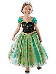 Cosplay Costumes Party Costume Princess Fairytale Festival/Holiday Halloween Costumes Green Patchwork DressHalloween Christmas Children's