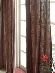 (due pannelli) biancheria / pannello solido cotone (marrone)