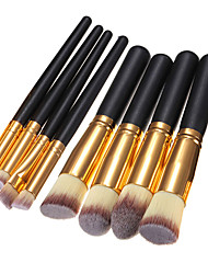 8PCs Kabuki Make up Brush Foundation Blending Blush Eyeliner Face Powder Brush Makeup Brush Set