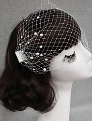 Wedding Birdcage Veil One-tier Blusher Veils Cut Edge