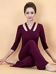 Yoga Ensemble de Vêtements/Tenus Respirable / Matériaux Légers Extensible Vêtements de sport Femme-Sportif,Yoga / Fitness