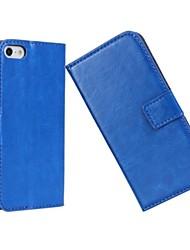 motif de surface solide de lumière de couleur de luxe de cas dur avec bouton pression magnétique et lecteur de carte pour l'iphone 5c