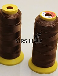 Weaving Threads for Machine Weft Hair Extension Professional Virgin Human Hair accessories & Tools Brown