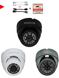 HOSAFEE 1/1.3MP Security Waterproof Metal Dome IP Camera with 24-IR LED