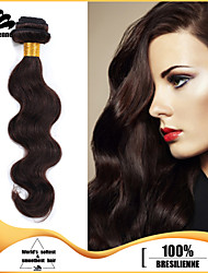 4pcs Brazilian Body Wave Hair Bundles Weaves 100% Unprocessed Dark Brown Human Hair Weft