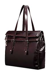 Formal / Casual / Oficina y Trabajo - Bolso de Hombro / Tote / Portafolios / Bolsa de Portátil / Cross Body Bag - Piel de Vaca - Borgoña -