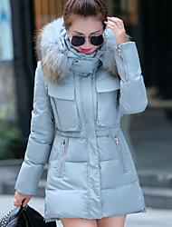 Domonie Women's Solid Blue / Pink / Green / Beige Coats & Jackets , Casual / Work Stand Long Sleeve
