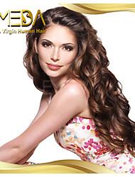 donne brasiliane colore dei capelli vergini (1 # # 1b # 2 # 4) le parrucche del merletto dei capelli dell'onda del corpo anteriore