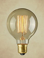 Pure Cupper Lamp Cap Retro Vintage E26 Artistic Filament Bulb Industrial Incandescent Light Bulb 40W