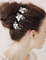 The New Bride High-end Tire Pure Manual Hair Hoop Gold Diamond Crystal 3pcs