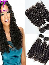"""3 PC / porción de 8 """"26"""" onda brasileña virginal del pelo de profundidad natural sin procesar del pelo brasileño negro teje ventas al por"""