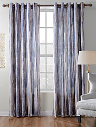 TWOPAGES Contemporary Thick Knit 850GSM Velvet Hand Feel Ramdon Stripe Curtain Panel Drape One Panel