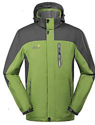 New Men Spring Autumn Hiking Camping Jacket Waterproof Windbreaker Detachable Cap 6XL