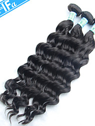Unprocessed Malaysian Virgin Hair 3Pcs/Lot Human Hair Natural Wave Hair Weaving Color 1B