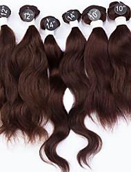 "Indian Virgin Hair Extensions Indian Wave Hair 7A Top Grade 6pcs 2x10"", 2x12"", 2x14"" 200g/Set Human Hair Weaving"