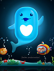 Cute Cartoon Dolphin Light Induction Control LED Wall Lamp Night Light Night lamp Children Christmas Birthday Gift