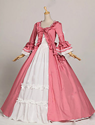 Steampunk®Princess Pink and White Colonial Period Dress Ball Gown Reenactment Theatre Clothing