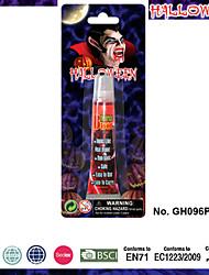 amily tamanho zumbi kit de maquiagem rosto pintar vestido extravagante conjunto sangue halloween horror